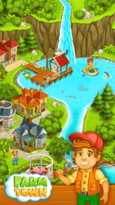 تصویر محیط Farm Town: Happy farming Day & food farm game City v3.44