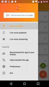 تصویر محیط VoiceFX – Voice Changer with voice effects v1.1.5