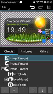 تصویر محیط XWIDGET v1.97