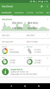 تصویر محیط DevCheck Hardware and System Info v3.32