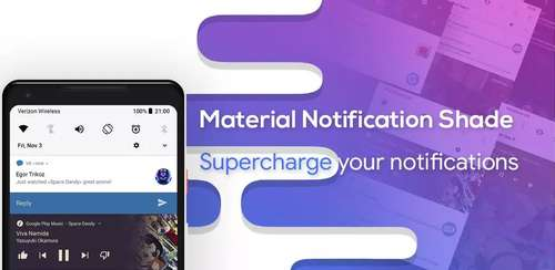 Material Notification Shade v10.37