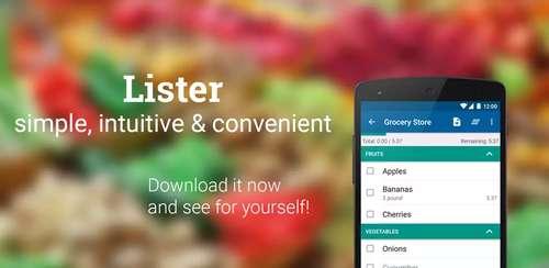 Shopping list — Lister v6.8.4