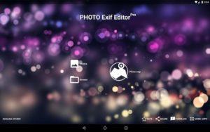 تصویر محیط Photo Exif Editor Pro – Metadata Editor v2.2.1