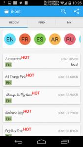تصویر محیط iFont (Expert of Fonts) v5.9.8.4 build 149