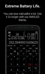 تصویر محیط Natural Scientific Calculator v6.0.5