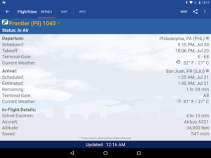 تصویر محیط FlightView Elite FlightTracker v4.0.20