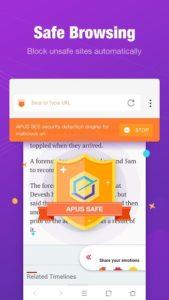 تصویر محیط APUS Browser – Fast download & Private & Secure v2.7.7