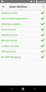 تصویر محیط Zoner Mobile Security v1.15.5