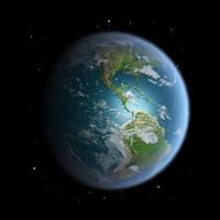 والپیپر کره زمین با امکان نمایش موقعیت زمین و خورشید آیکون