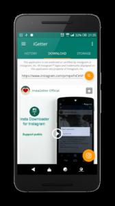 تصویر محیط iGetter – Quick save video & story v4.4.27