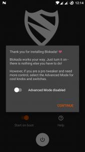 تصویر محیط Blokada v4.4.4