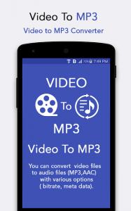 تصویر محیط 🎵 Video to MP3 v105