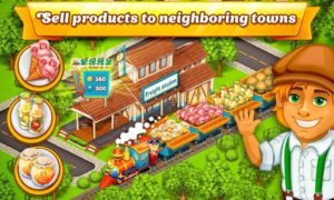 تصویر محیط Cartoon City: farm to village. Build your home v1.76