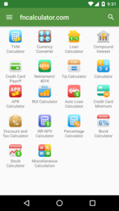 تصویر محیط Financial Calculators Pro v3.2.9