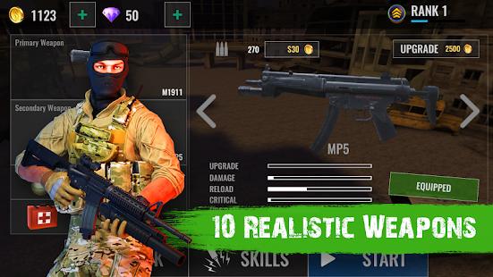 بازی زامبی ها در آتش Zombie Shooter Hell 4 Survival v1.48