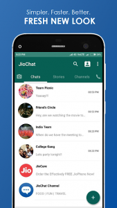 تصویر محیط JioChat: HD Video Call v3.2.8.2.1104