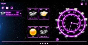 تصویر محیط Weather Neon v4.8.0