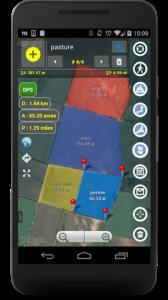 تصویر محیط Planimeter – GPS area measure | land survey on map v5.3.1
