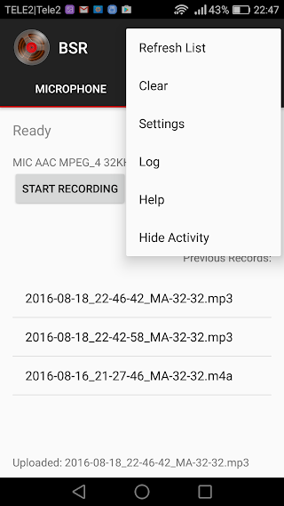 Background Sound Recorder v2.34