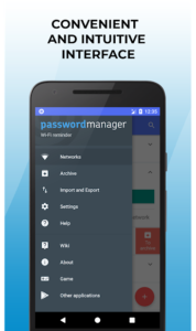 تصویر محیط Wi-Fi password manager v2.7.6