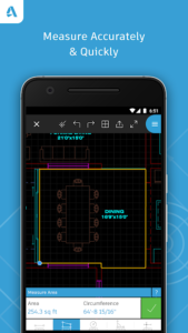 تصویر محیط AutoCAD – DWG Viewer & Editor v4.5.28