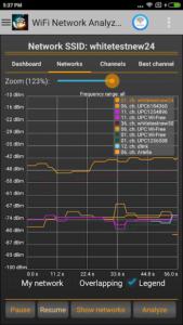 تصویر محیط WiFi Analyzer Pro v3.1.8