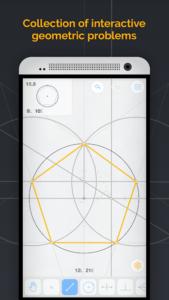 تصویر محیط Euclidea v4.43
