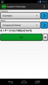 تصویر محیط Custom Formulas v7.1