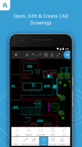 تصویر محیط AutoCAD – DWG Viewer & Editor v5.0.0