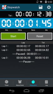 تصویر محیط Timers4Me Timer & Stopwatch Pro v6.8