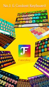 تصویر محیط FancyKey Keyboard – Cool Fonts, Emoji, GIF,Sticker v4.7