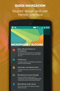 تصویر محیط Microphone Blocker – Anti Spyware Pro v1.3.1