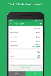 تصویر محیط Weight Track Assistant – Free weight tracker v3.10.5.1