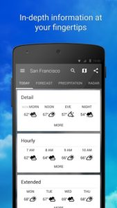 تصویر محیط 1Weather:Widget Forecast Radar v4.5.4.0