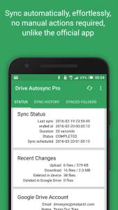 تصویر محیط Autosync for Google Drive v4.4.31