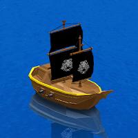 بازی قایق سواری و ماهیگیری آیکون