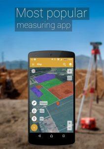 تصویر محیط GPS Fields Area Measure PRO v3.11.4