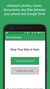 تصویر محیط Autosync for Google Drive v4.4.36