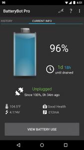 تصویر محیط BatteryBot Pro v11.0.3