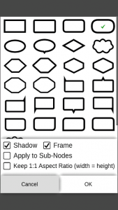 تصویر محیط miMind – Easy Mind Mapping v3.04