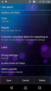 تصویر محیط Smart Alarm v2.3.7