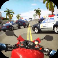 بازی موتور سواری در بزرگراه آیکون
