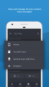 تصویر محیط SanDisk Memory Zone v4.1.7