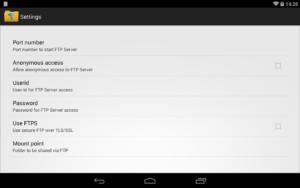 تصویر محیط WiFi Pro FTP Server v1.8.8