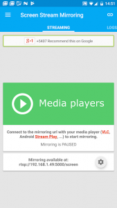 تصویر محیط Screen Stream Mirroring free v2.5.7c