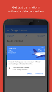 تصویر محیط Google Translate v5.29.0.RC05.247256929