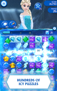 تصویر محیط Disney Frozen Free Fall – Play Frozen Puzzle Games v10.0.1 + data