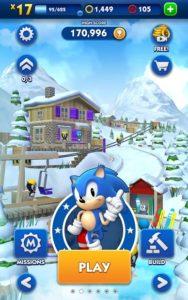 تصویر محیط Sonic Dash v4.6.0