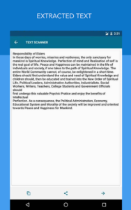تصویر محیط OCR Text Scanner pro : Convert an image to text v1.6.3