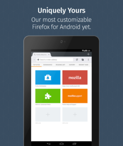 تصویر محیط Firefox for Android Beta v66.0